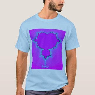 愛-フラクタルCartioids Tシャツ
