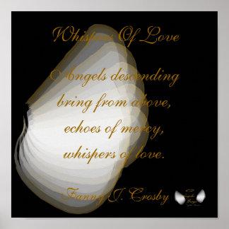愛、ポスターの天使のささやきはカスタマイズ ポスター