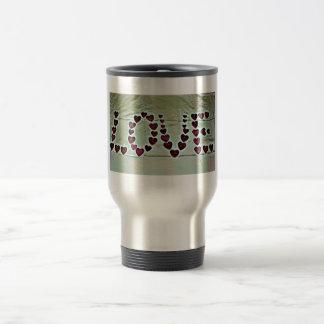 愛|メッセージ ステンレス製トラベルマグカップ