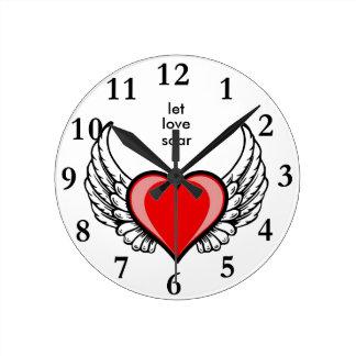 愛 ラウンド壁時計