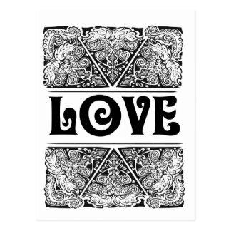 愛-前向きな声明の引用文 ポストカード