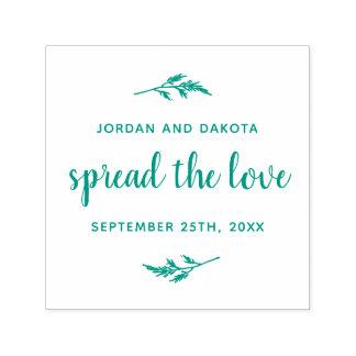 愛|名前をカスタムする及び日付の結婚式を広げて下さい セルフインキングスタンプ