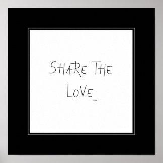 愛-壁の装飾--を共有して下さい ポスター