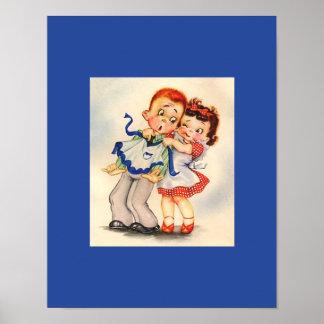 愛、婚約、または結婚祝いのカップルのユーモア ポスター