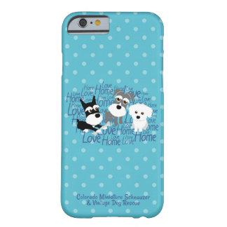 愛、家庭の水玉模様のシュナウツァーの携帯電話の箱 BARELY THERE iPhone 6 ケース