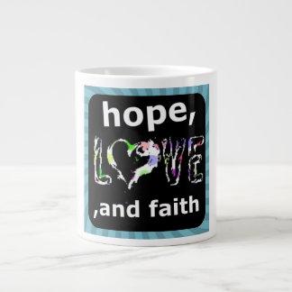 愛、希望および信頼 ジャンボコーヒーマグカップ