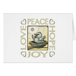 愛、平和、希望、喜び カード
