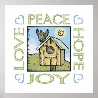 愛、平和、希望、喜び ポスター