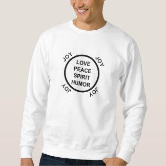 愛、平和、精神、ユーモア、喜び-基本的なスエットシャツ スウェットシャツ