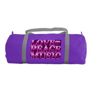 愛、平和、音楽 ジムバッグ