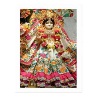 愛、平和n繁栄のためのRadha KRISHNA ポストカード