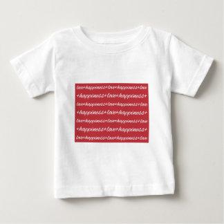 愛 + 幸福はTシャツをからかいます ベビーTシャツ