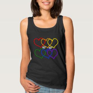 愛=愛女性の基本的なタンクトップ タンクトップ