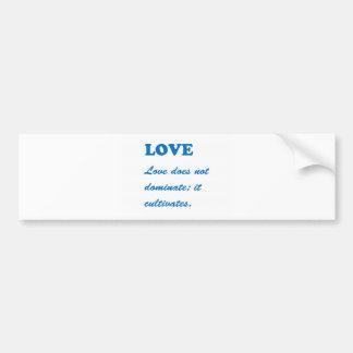 愛: 挨拶nのギフト: ロマンスのハートのスピリチュアルm バンパーステッカー