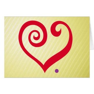 愛。 期間! 赤いハート愛声明 カード