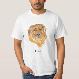 愛:  犬の思考のTシャツ Tシャツ