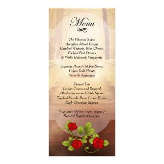 愛、自然の結婚の橋-赤いバラ ラックカード