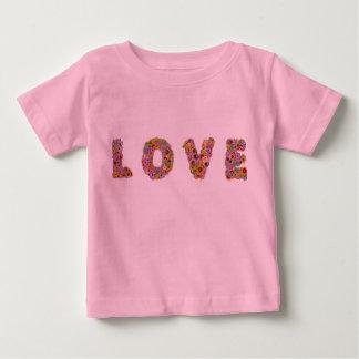 愛、花、バレンタイン、ロマンス、自由な花束 ベビーTシャツ
