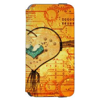愛、金属から成っている美しいハート INCIPIO WATSON™ iPhone 6 ウォレットケース