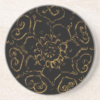 愛((金) Henna)の花 コースター