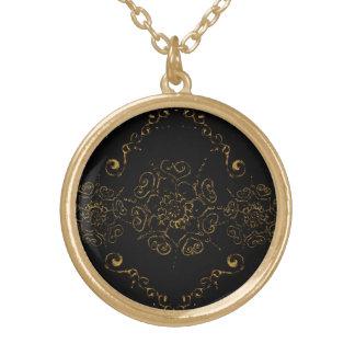 愛((金) Henna)の花 ゴールドプレートネックレス