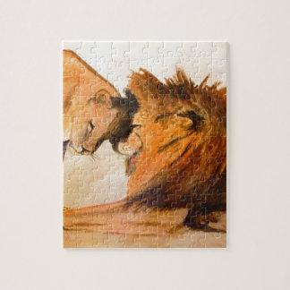 愛#2のライオン ジグソーパズル