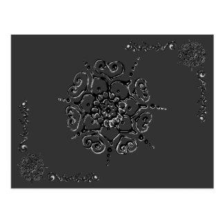 愛(Henna)の花(銀か効果) ポストカード
