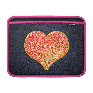 """愛- Macbookの光沢があるピンクの金の空気13""""横 MacBook スリーブ"""