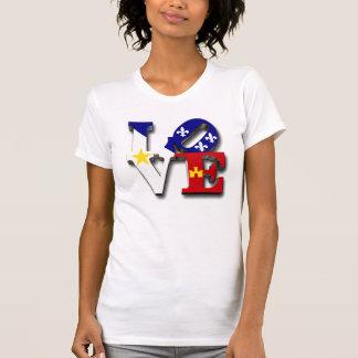 愛Acadianaのフランス語ルイジアナ Tシャツ