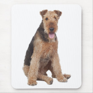 愛Airedaleテリアの小犬のマウスパッド マウスパッド