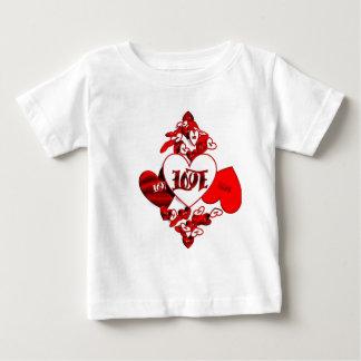 愛Ambigramの幼児 ベビーTシャツ