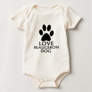 愛BEAUCERON犬のデザイン ベビーボディスーツ