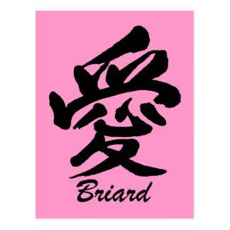 愛Briard ポストカード