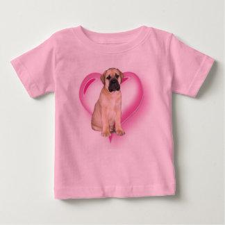 愛Bullmastiffの子犬の幼児のワイシャツ ベビーTシャツ