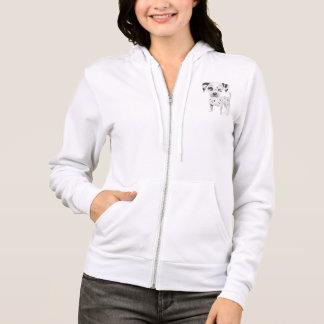 愛Dalmatian小犬のフード付きスウェットシャツのスエットシャツ パーカ