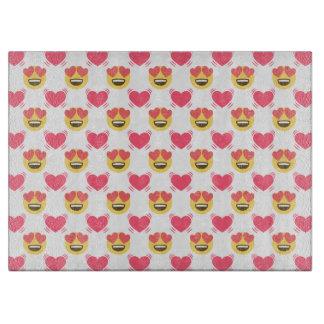 愛Emojiのハートパターンのかわいい菓子 カッティングボード