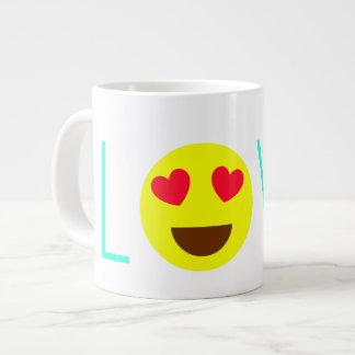 愛Emojiのマグ ジャンボコーヒーマグカップ