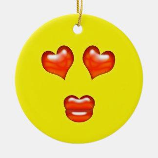 愛Emojiの黄色い名前をカスタムする セラミックオーナメント
