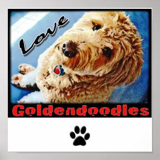 愛Goldendoodlesポスター ポスター