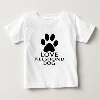 愛KEESHOND犬のデザイン ベビーTシャツ
