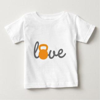 愛Kettlebellのオレンジ ベビーTシャツ