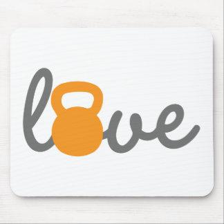 愛Kettlebellのオレンジ マウスパッド