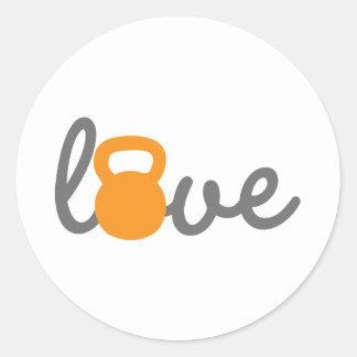 愛Kettlebellのオレンジ ラウンドシール