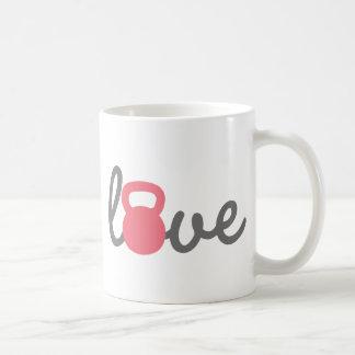愛Kettlebellのピンク コーヒーマグカップ