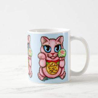 愛Maneki Nekoの幸運猫のかわいい芸術のマグ コーヒーマグカップ