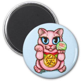 愛Maneki Nekoの幸運猫のファンタジーの芸術の磁石 マグネット