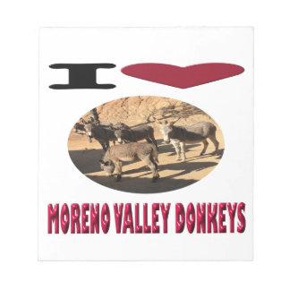 愛Moreno Valleyのろば ノートパッド