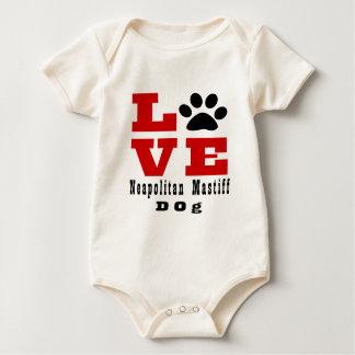 愛Neapolitan Mastif犬Designes ベビーボディスーツ