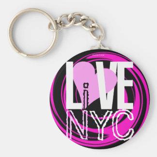 愛NYCはNYC Keychainのピンクに住んでいます キーホルダー