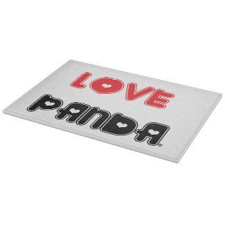 愛Panda®のガラスまな板 カッティングボード